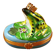 Limoges Imports Frog With Crown Limoges Box