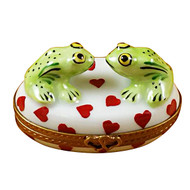 Limoges Imports Two Loving Frogs On Oval Box Limoges Box