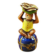 Limoges Imports Monkey With Banana Limoges Box