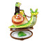 Limoges Imports Frog Riding Snail Limoges Box