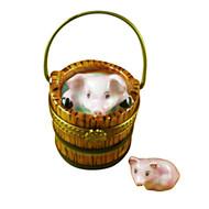 Limoges Imports Pig In Barrel Limoges Box