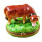 Limoges Imports Brown Cow Limoges Box