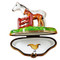 Limoges Imports Two Horses By Fence Limoges Box
