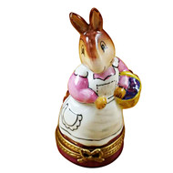Limoges Imports Rabbit Carrying Basket Limoges Box