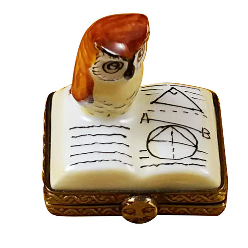Limoges Imports Mini Owl On Book Limoges Box