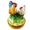 Limoges Imports Rooster & Chicken Limoges Box