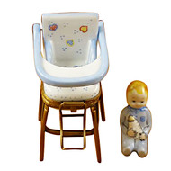 Limoges Imports Blue High Chair Limoges Box