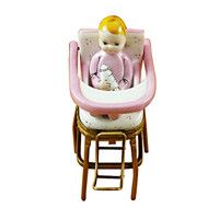 Limoges Imports Pink High Chair Limoges Box