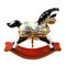 Limoges Imports Black/White Rocking Horse Limoges Box
