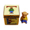 Limoges Imports Block With Bear Inside Limoges Box