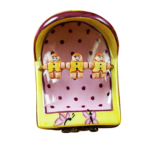 Limoges Imports Pink/Yellow Cradle Limoges Box