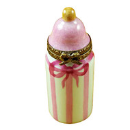 Limoges Imports Pink Baby Bottle Limoges Box