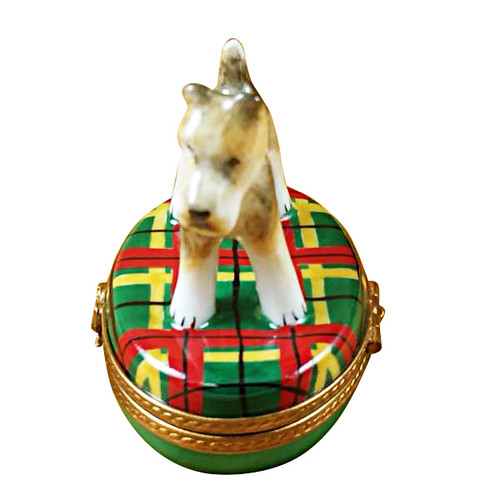 Limoges Imports Fox Terrier Limoges Box