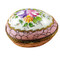 Limoges Imports Egg With Pink And Flowers Limoges Box