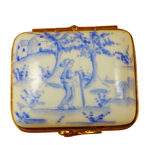 Limoges Imports Blue Toille Box Limoges Box