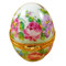 Limoges Imports Pink Flowery Egg Limoges Box