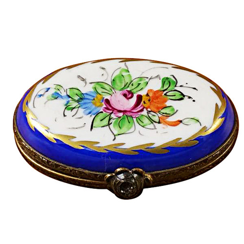 Limoges Imports Blue Oval Limoges Box