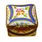 Limoges Imports Square Box W/Blue & Gold Limoges Box