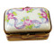 Limoges Imports White & Pink Flowery Rectangle Limoges Box