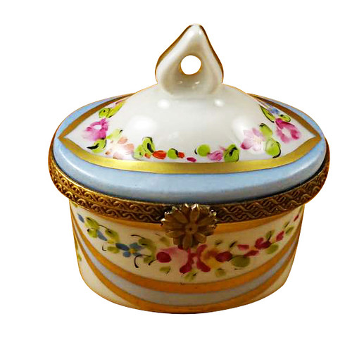 Limoges Imports Blue Crown Top Limoges Box