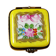Limoges Imports Small Yellow Square Limoges Box