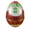 Limoges Imports Large Burgundy Egg W/ Flowers Limoges Box