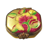 Limoges Imports Eight Sided Floral Limoges Box