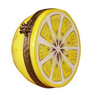 Limoges Imports Half Of Lemon Limoges Box
