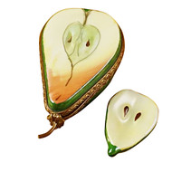 Limoges Imports Half A Pear W/ Slice Limoges Box