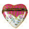 Limoges Imports Red/White Heart Limoges Box