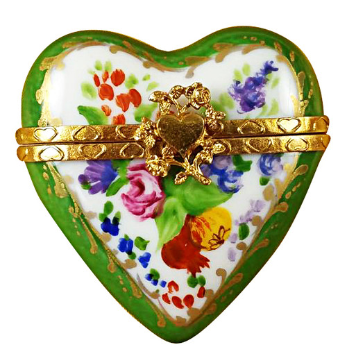 Limoges Imports Green Heart Limoges Box