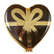 Limoges Imports Chocolate Heart W/Gold Bow Limoges Box