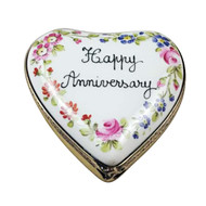 Rochard HAPPY ANNIVERSARY HEART Limoges Box - RH240-H