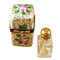 Limoges Imports Green & Gold W/ 1 Bottle Limoges Box