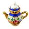 Limoges Imports Blue Tea Pot Limoges Box