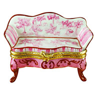Limoges Imports Pink Toile Couch Limoges Box