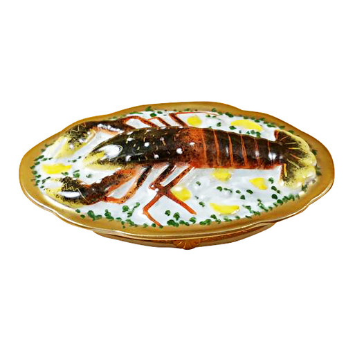 Limoges Imports Lobster On Platter Limoges Box