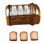 Limoges Imports Toaster Wiht 3 Slices Of Removable Toast Limoges Box