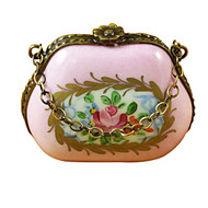 Limoges Imports Pink Purse Limoges Box
