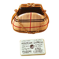 Limoges Imports Burberry Purse W/Chain & Credit Card Limoges Box