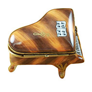 Limoges Imports Brown Baby Grand Piano Limoges Box