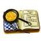 Limoges Imports Cook Book W/Skillet Limoges Box