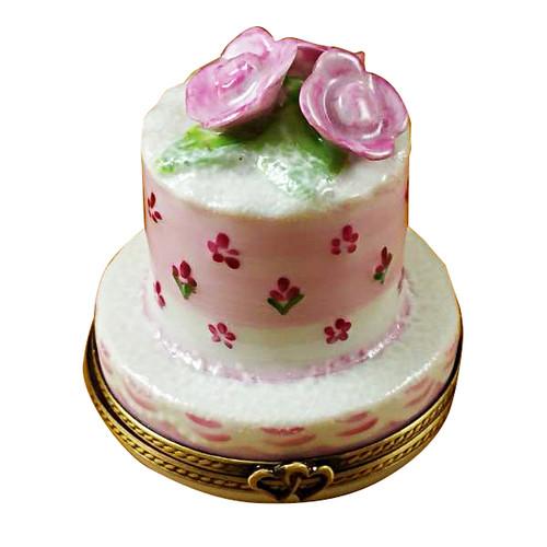 Limoges Imports Wedding Cake - Small Limoges Box