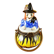 Limoges Imports Witch In A Pot Limoges Box