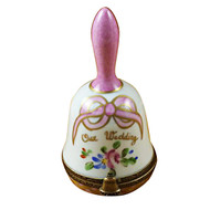 Limoges Imports Pink Wedding Bell Limoges Box