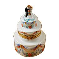 Limoges Imports Wedding Cake W/ Flowers Limoges Box