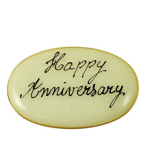 Limoges Imports Happy Anniversary Filler - Price Code Is For Two Pieces Limoges Box