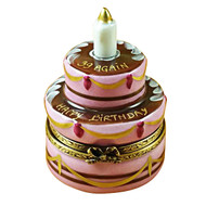 Limoges Imports Birthday Cake - '39 Again' Limoges Box