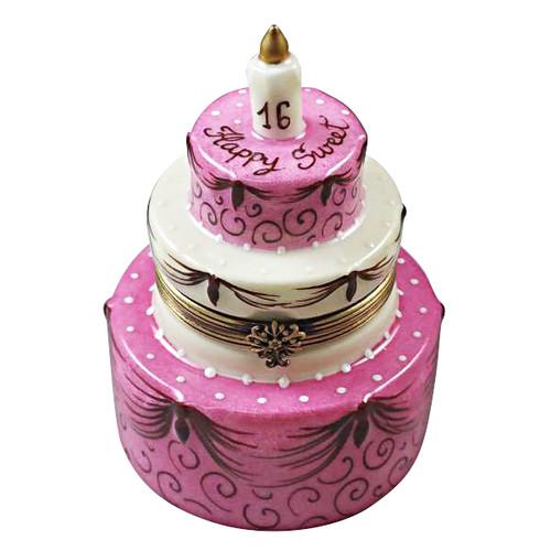 Limoges Imports Sweet Sixteen Birthday Cake Limoges Box