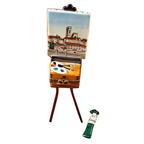 Limoges Imports Artist Painting & Easel Limoges Box